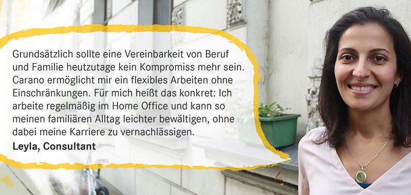 Zitat von Leyla, Consultant bei Carano