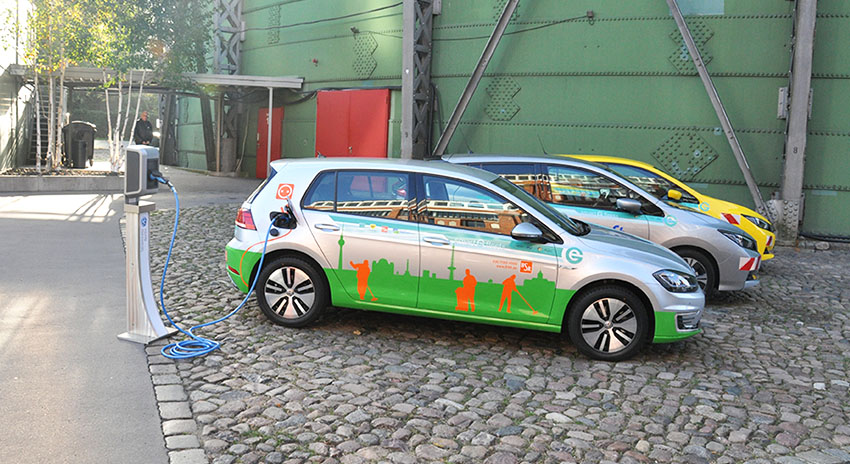 Electric cars participating in the project Smart eFleets
