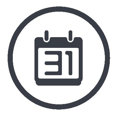 Icon mit Kalender