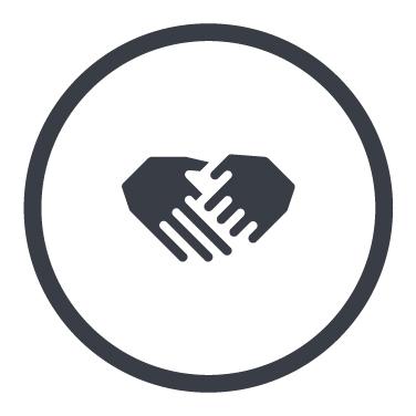 Icon mit zwei Händen