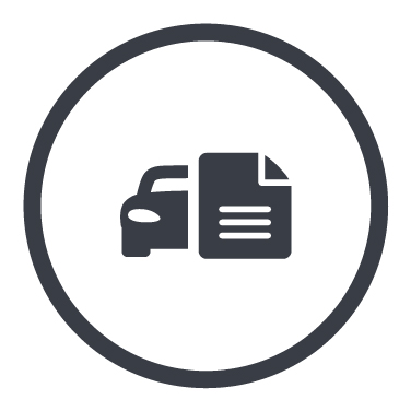 Icons mit halben Auto und Dokument