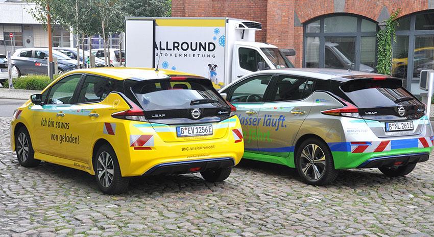 Smart eFleets Fahrzeuge auf dem Euref-Campus