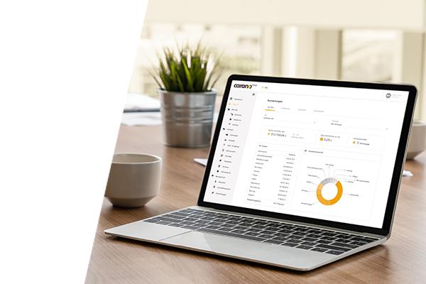 Laptop mit Softwarelösung